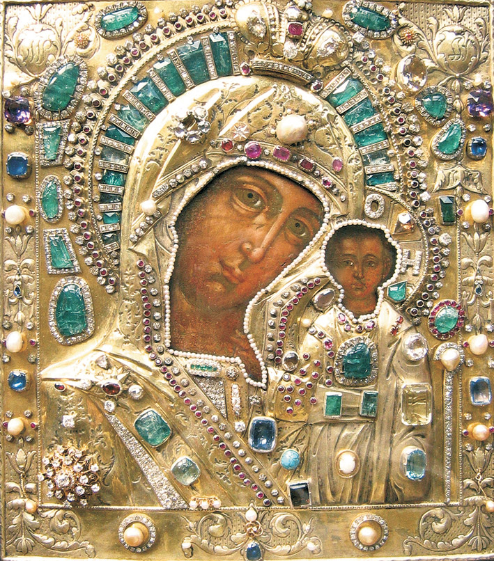 Russia: The Icon of Our Lady of Kazan (also known as